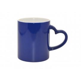 11oz Blue Color Change Mug with Heart Handle (48/case)