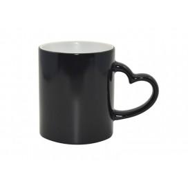 11oz Black Color Change Mug with Heart Handle (48/case)