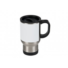 14oz Stainless Steel Mug with White Patch(24/pack)