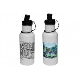 600ml Stainless Steel Bottle-White(60/pack)