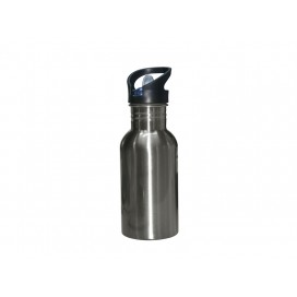 500ML Stainless Steel Water Bottle with Straw Top - Silver(50/pack)