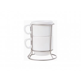 2 piece 6oz Stackable Mug Set (10/pack)