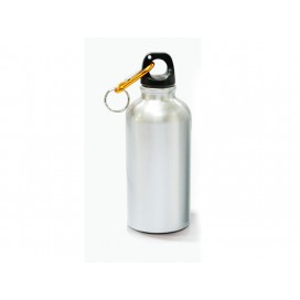500ml Silver Aluminium Water Bottle (60/case)
