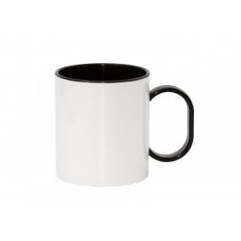 11oz Sublimation Polymer Inner Rim Color Mug, Black(48/pack)