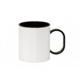 11oz Sublimation Polymer Inner Rim Color Mug, Black(48/pack)