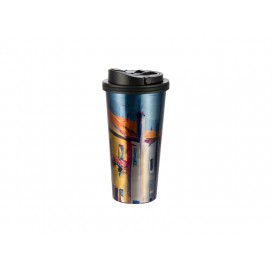 16oz Stainless Steel Tumbler(Silver) w/ Handle (24/carton)