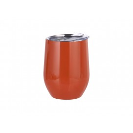 12oz Stainless Steel Wine Cup (Orange) (25/carton)