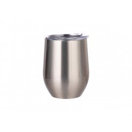 12oz Stainless Steel Wine Cup (Silver) (25/carton)