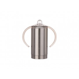 13oz/400ml Stainless Steel Sippy Cup with Spout (Silver) (10/pcs)