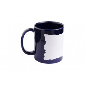 11oz Full Colour Mug w/ White Patch(Blue,Butterfly Shaped)(36/pack)