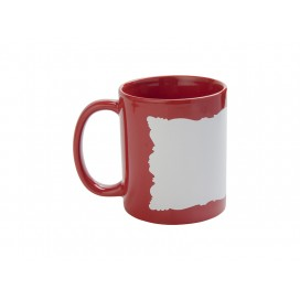 11oz Full Colour Mug w/ White Patch(Red,Butterfly Shaped)(36/pack)