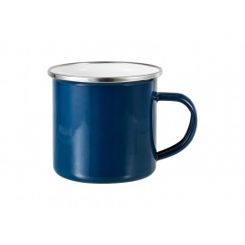 12oz Enamel Mug w/ Flat Bottom-Dark Blue (48/carton)