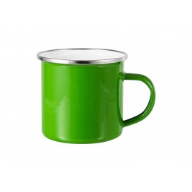 12oz Enamel Mug w/ Flat Bottom-Green (48/carton)