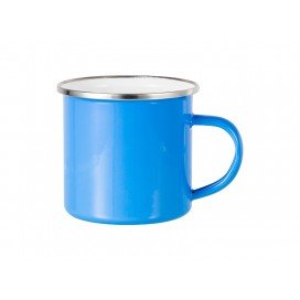 12oz Enamel Mug w/ Flat Bottom-Light Blue (48/carton)