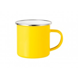 12oz Enamel Mug w/ Flat Bottom-Yellow (48/carton)