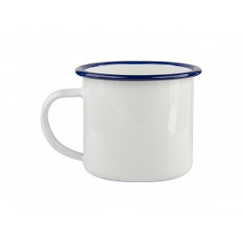 12oz Enamel Cup with Blue Rim (48/pack)