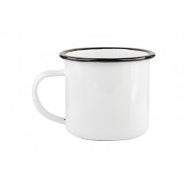 12oz Enamel Cup with Black Rim (48/pack)