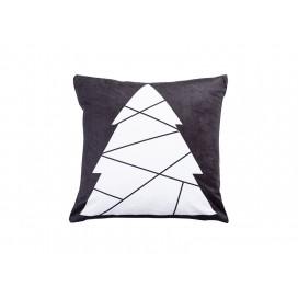 """Sublimation 10 Panel Plush Pillow Cover (Tree Shape, 40*40cm/15.75""""x15.75"""")"""