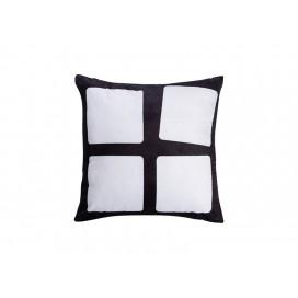 """Sublimation 4 Panel Plush Pillow Cover (40*40cm/15.75""""x15.75"""")"""