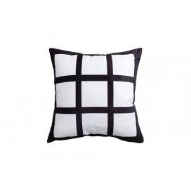 """Sublimation 9 Panel Plush Pillow Cover (40*40cm/15.75""""x15.75"""")"""