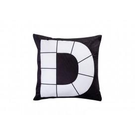 """Sublimation 9 Panel Plush Pillow Cover (D-Shape, 40*40cm/15.75""""x15.75"""")"""