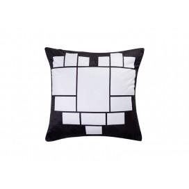 """Sublimation 15 Panel Plush Pillow Cover (Heart-Shape, 40*40cm/15.75""""x15.75"""")"""