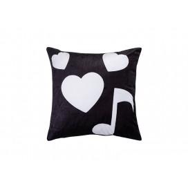 "Sublimation 4 Panel Plush Pillow Cover (Musical Note, 40*40cm/15.75""x15.75"")"