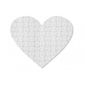 75 Pieces Heart Sublimation Fabric Puzzle(10/pack)