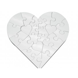 23 Pieces Heart Shape MDF Puzzle(10/pack)