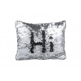 Sequin Makeup Bag / Pencil Case(Silver/Black) (10/pack)