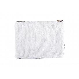 Sequin Makeup Bag / Pencil Case(White/Silver) (10/pack)