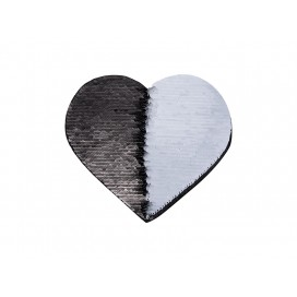 Flip Sequins Adhesive (Heart, Black W/ White)