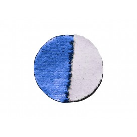 Flip Sequins Adhesive (Round, Dark Blue W/ White)  (10/pack)