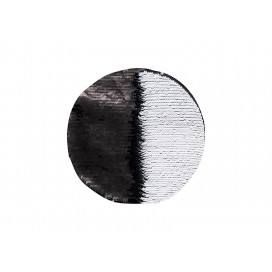 Flip Sequins Adhesive (Round, Black W/ White)  (10/pack)