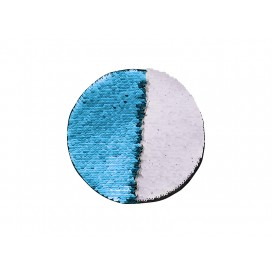 Flip Sequins Adhesive (Round, Light Blue W/ White)  (10/pack)