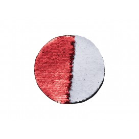 Flip Sequins Adhesive (Round, Red W/ White)  (10/pack)