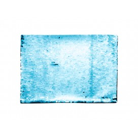 Flip Sequins Adhesive (Rect, Light Blue W/ White)(10/pack)