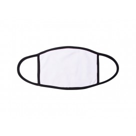 Sublimation Face Mask (Black Edge, Large) (10/pack)