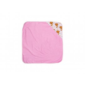 Sublimation Baby Hooded Towel(80*80, Purple Red) (10/pack)