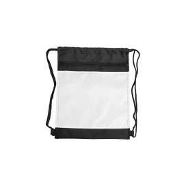 Drawstring Backpack(Black Polyester) (10/pack)