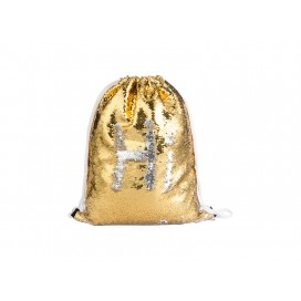 Sequin Drawstring Backpack( Gold/Silver) (10/pack)