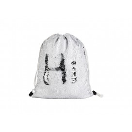 Sequin Drawstring Backpack(Black/White) (10/pack)
