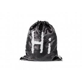 Sequin Drawstring Backpack(Black/White) (10/pack)