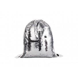 Sequin Drawstring Backpack(Silver/Black) (10/pack)