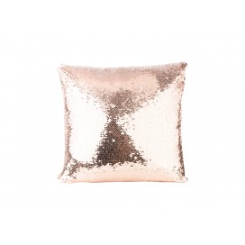 Flip Sequin Pillow Cover(Champagne w/ White)  (10/pack)