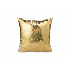 Flip Sequin Pillow Cover(Gold w/ Silver)   (10/pack)