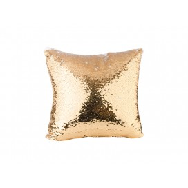 Flip Sequin Pillow Cover(Gold w/ White) (10/pack)