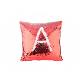 Flip Sequin Pillow Cover(Red w/ White)                                (10/pack)