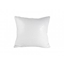 Flip Sequin Pillow Cover(white w/ Silver) (10/pack)