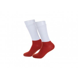 Sublimation Athletic Socks (Maroon Sole) (10/pack)